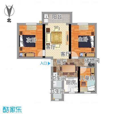 锁金村84平3室2厅装修