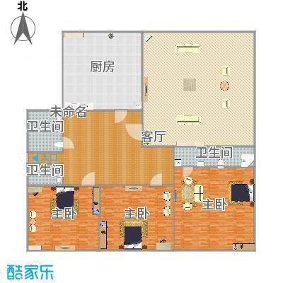 171平户型三室两厅两卫