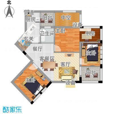 神仙树缤纷75.00㎡C3户型3室2厅1卫