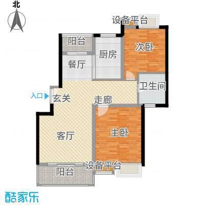 万源城逸郡100.00㎡房型: 二房; 面积段: 100 -110 平方米; 户型