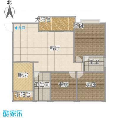 尚书名府128.52方A2户型三室两厅整体设计(精准)