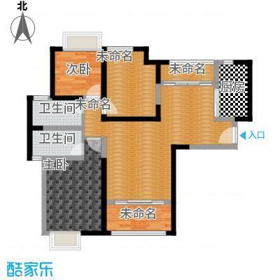 海伦国际35号楼F4户型2室2卫1厨