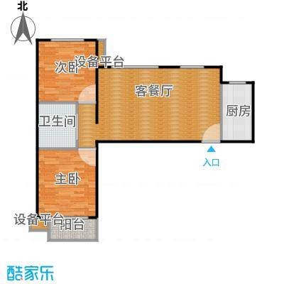 龙湖大方居87.33C9户型两室两厅