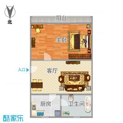 真光五街坊一房一厅49.5平方