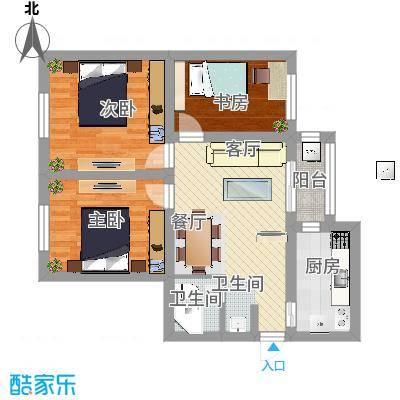 85方三室一厅