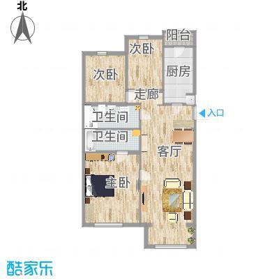 天露园一区124方三室一厅两卫