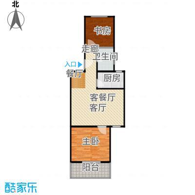 房型: 二房; 面积段: 71 -76 平方米;