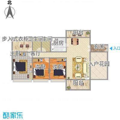 优越香格里二期6栋02户型三室两厅