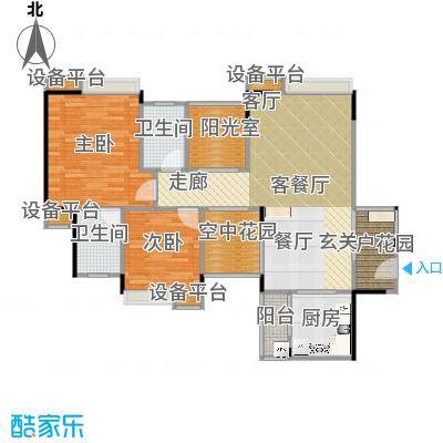 世纪城玫瑰公馆户型图(1/4张)