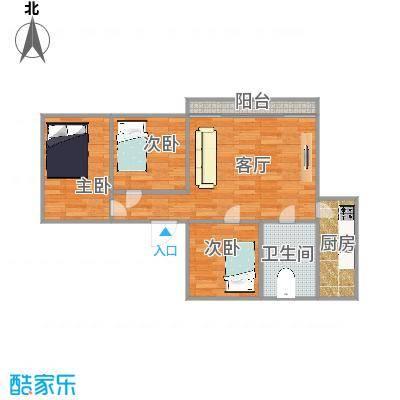 87平三房两厅