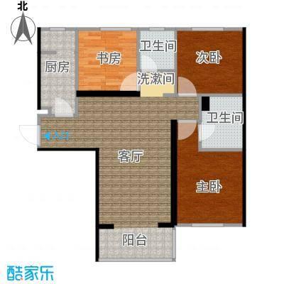 廊坊华夏奥韵102平米户型图1