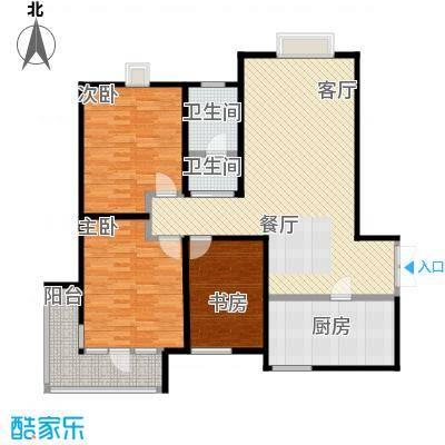 发祥福邸128.00㎡户型3室1厅2卫1厨