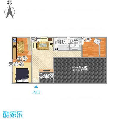 朝阳公园西里南区的户型图80方三室一厅