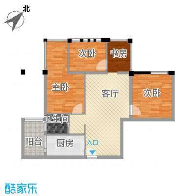 神仙树缤纷62.00㎡B2户型3室2厅1卫