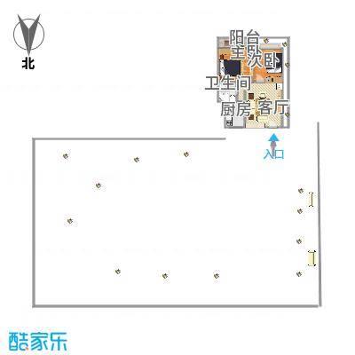 麒麟花园A11-48平两房13006636053家家顺刘远东绘图