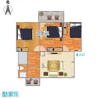南林二村的户型图