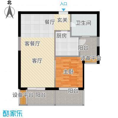 浅水湾恺悦名城71.00㎡1面积7100m户型
