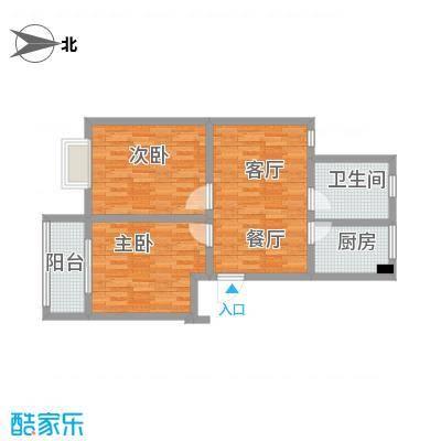 平湖塘花苑户型2室1厅1卫1厨