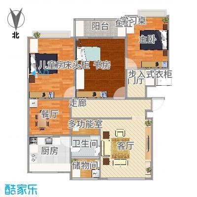 13-C户型117平三室一厅