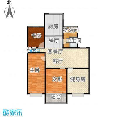 东方明珠城户型4室1厅1卫1厨