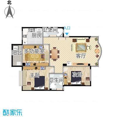 新华园三房一厅两卫
