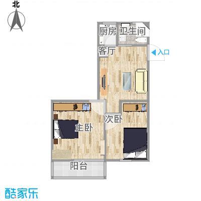 友谊社区塔楼61平两室一厅