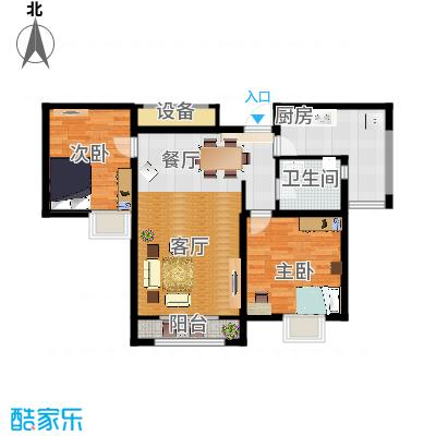 天房郦堂95.00㎡C户型2室2厅1卫