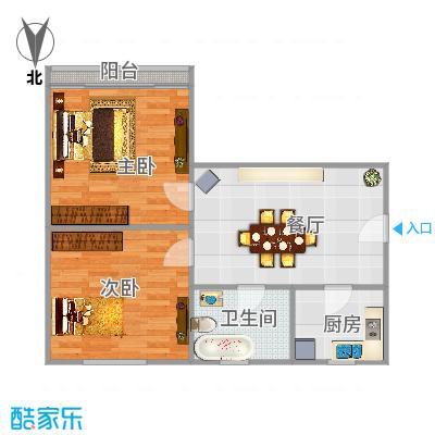 清涧二街坊两室一厅55平方南北两房