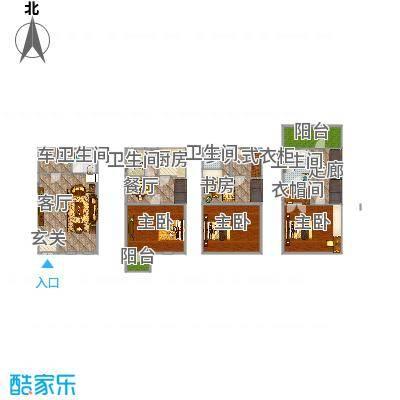 三盛颐景园的户型图