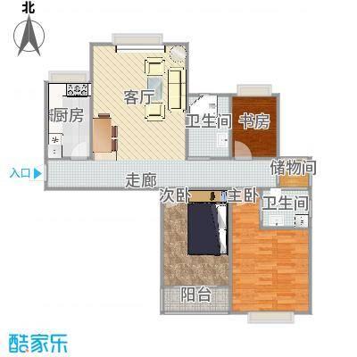 广顺现代城的户型图115平