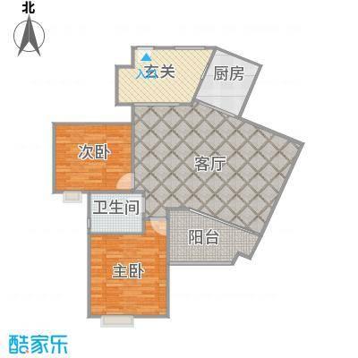 贵阳世纪城龙佑苑37栋1单元两室两厅户型