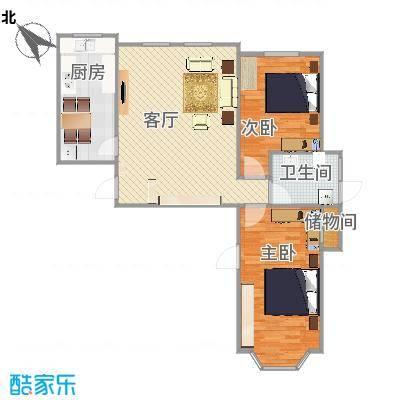 凤凰国际城15号楼1单元1101室平面效果图