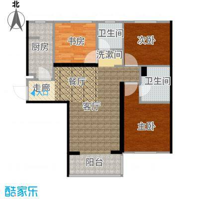 廊坊华夏奥韵102平米户型图标准3.8