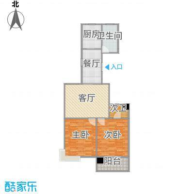 枫林湾户型图100方两室两厅
