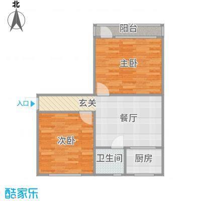 2居室南北户型