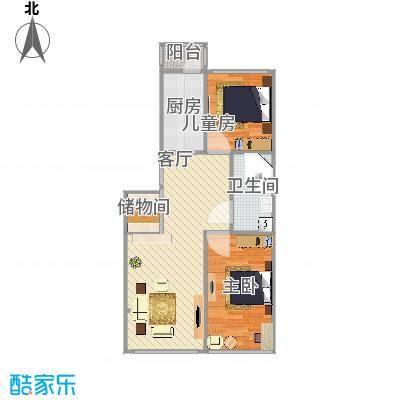 信恒现代城60米两室两厅