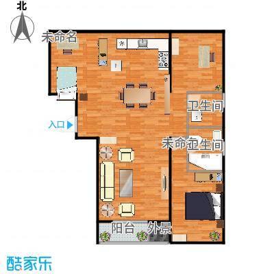 缪缪家108㎡户型图三室两厅