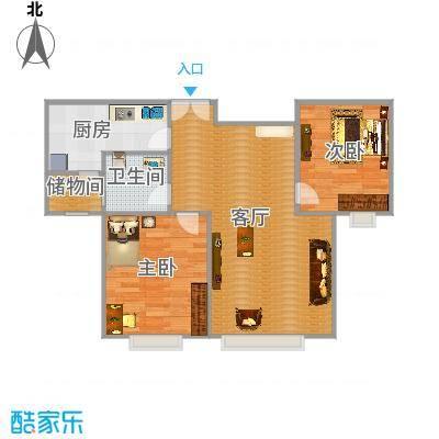 香榭澜湾的户型图86.99