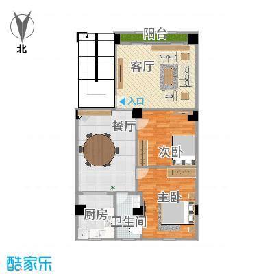 自建实际面积101.25平方两室两厅