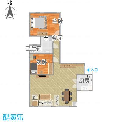 艺术家公寓的户型图