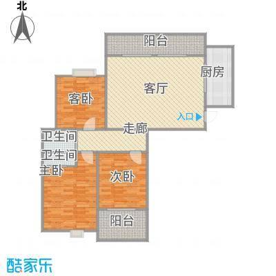 三室两厅一卫平面图临摹