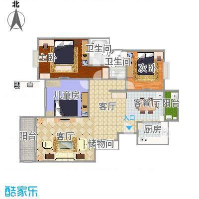 146平三房二厅二卫
