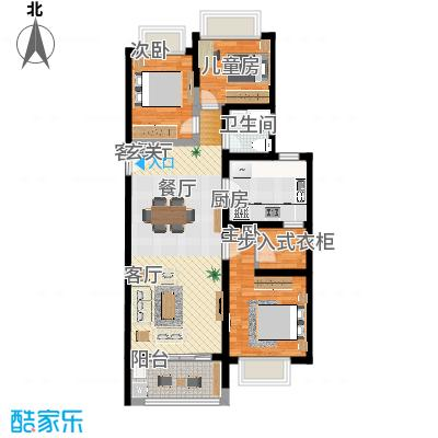现代简约-上海周浦御沁园103㎡3室2厅1厨1卫