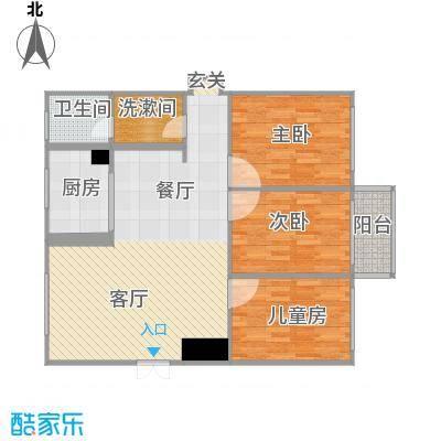 时代华庭118.9方三室两厅