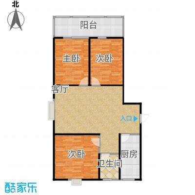 二期113户型三室一厅东户