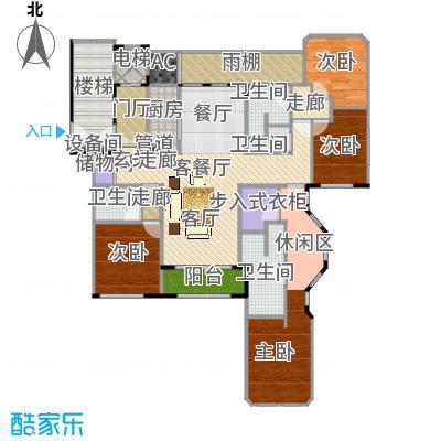 紫竹半岛140.57㎡三居户型3室2厅