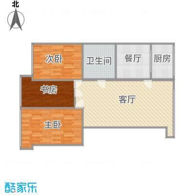 金源花园119.66平三室两厅一卫