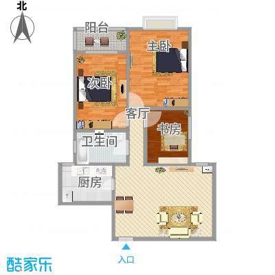 120方三室一厅