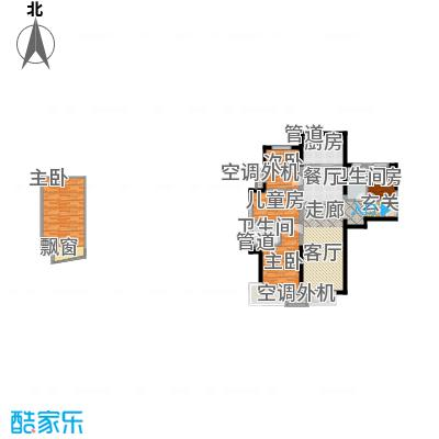 泰禾拾景园121.82㎡一期1、2、7号楼A户型