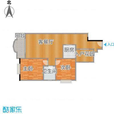 御峰臻品97平03户型两室两厅一卫